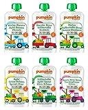 Bio Gemüse Quetschies - Pumpkin Organics ERSTE LIEBE (24 x 100g) + 1 Löffelaufsatz - Snacks für Babys ab 6. Monat