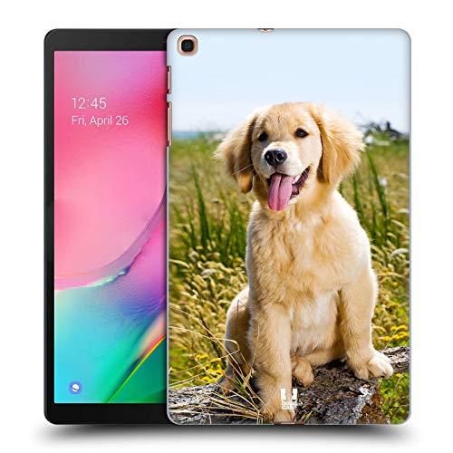 Head Case Designs Cucciolo di Golden Retriever Razze Famose di Cani Cover Dura per Parte Posteriore e Sfondo di Design Abbinato Compatibile con Samsung Galaxy Tab A 10.1 2019