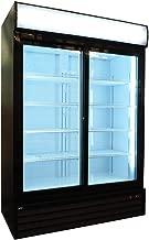 Double Sliding Glass Door Merchandiser Upright Display Cooler