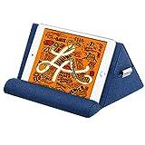 MoKo Soporte de Almohada para Tableta, Compatible con iPad Air 4 10.9'/Air 3, iPad 10.2 2020, iPad Pro 11/10.5/9.7, Mini 5, Galaxy Tab S6/S7,Soporte de Algodón hasta 11' - Azul Mariano