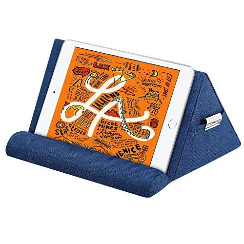 """MoKo Soporte de Almohada para Tableta, Compatible con iPad Air 4 10.9""""/Air 3, iPad 10.2 2020, iPad Pro 11/10.5/9.7, Mini 5, Galaxy Tab S6/S7,Soporte de Algodón hasta 11"""" - Azul Mariano"""