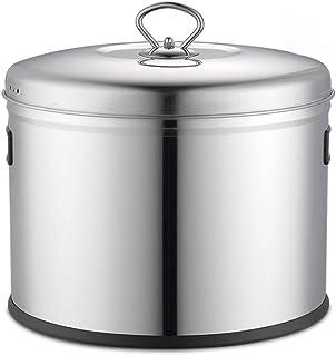QD-SGMP 米びつ 米櫃 米入れ ライスストッカー 密閉式 防湿シール お米収納庫 304ステンレス 10-15kg 米櫃 防虫 防湿【冷蔵庫に置いてもいい】 (8kg)