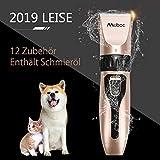 Muboc Schermaschine Hund Tierhaarschneidemaschine Hunde Haarschneidemaschine Profi Tierhaarschneider...