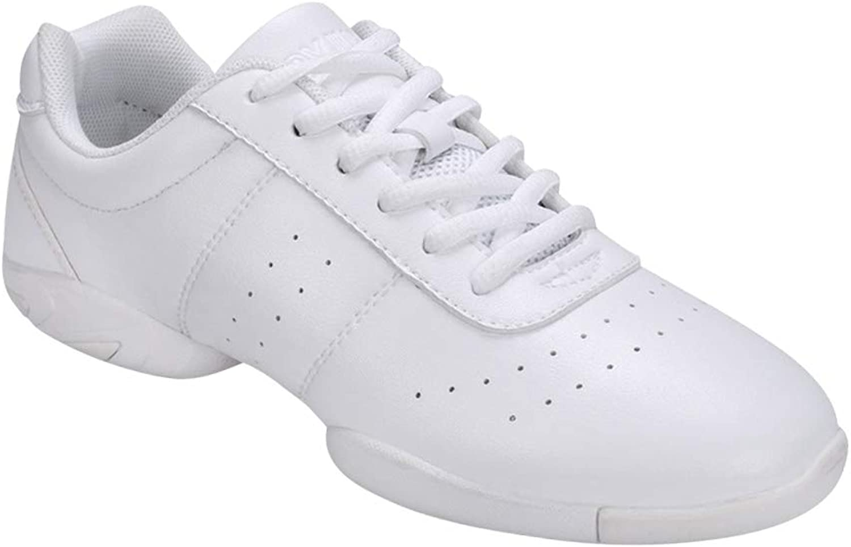 Uirend Gymnastics Dance Sport shoes Women - Ladies Lace Up Mesh Leather Sport shoes Flat shoes Sneakers Split Sole Trainers Modern Jazz Dancewear Training Performance