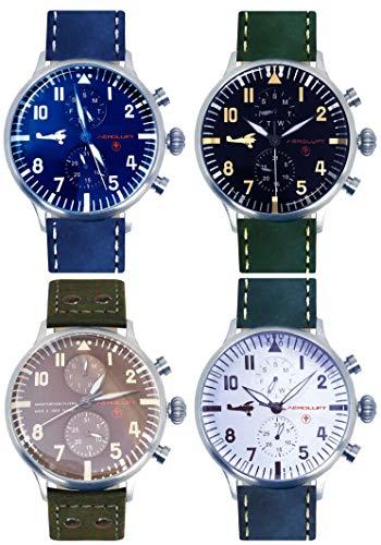 Colección de 4 Relojes Hombre de piloto Aviador aliado de l