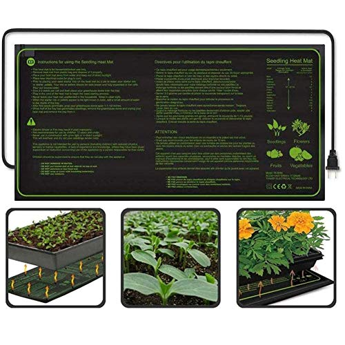 Plant Verwarming Mats Seedling Heat Mat Waterproof Duurzame Kiemkracht Station Warm Hydroponic Verwarming Pad voor Indoor tuinieren Seed,Black