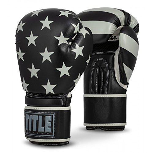 Title Boxing Patriot Bag Gloves, Black/Grey, 16 oz