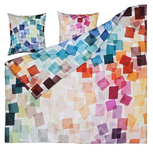 ESTELLA Mako-Satin Bettwäsche Puzzle Multicolor 1 Bettbezug 135 x 200 cm + 1 Kissenbezug 80 x 80 cm