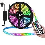 Zorara LED Strip 5M, RGB LED Strip 300Leds Farbwechsel Lichtband mit Fernbedienung, IP65 Wasserdicht...