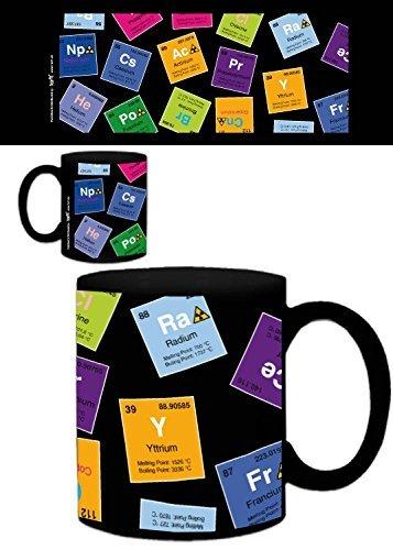 1art1 Periodensystem Der Elemente, Kohlenstoff, Barium, Brom, Radium, In Englisch Foto-Tasse Kaffeetasse (9x8 cm) Inklusive 1x Überraschungs-Sticker