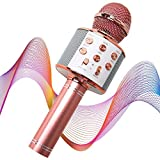 WIMO Wireless Karaoke Microphone 4 in 1, Portable Bluetooth Speaker for Home Party and TikTok Singing, Smartphone Compatible Karaoke Machine, All Age Trend Gift from WIMO