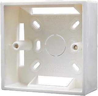 Caja de pared Universal Square Wall 86mm x 86mm x 30mm PVC para termostato-Blanco