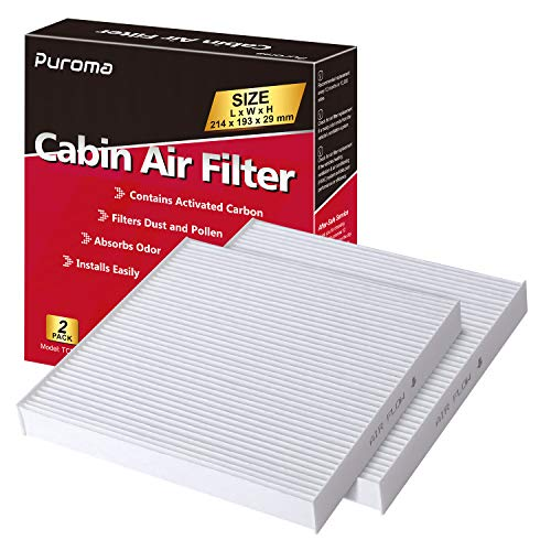 80291-TF0-E01 Honda genuine part 80291-T5R-A01 Puroma 2 Pack Cabin Air Filter with Activated Charcoal Layer Replacement for CP182 80291-TF0-405 80292-TBA-A11 80292-TGL-E0 CF11182 80292-TF0-G01