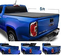 Tyger Auto Black Top T3 Soft Tri-Fold Truck Tonneau Cover for 2015-2020 Chevy Colorado/GMC Canyon Fleetside 5'2