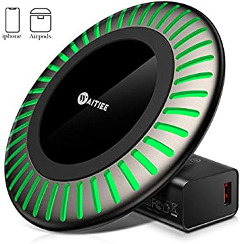 Waitiee Fast Wireless 15W Fast Charging Dock with Adapter