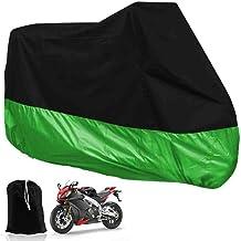 265 x 105 x 125 cm by ArturoLudwig XXL Funda Protector Lona para Moto Motocicleta para Garaje o Aire Libre Plegable con Bolsillos Verde y Negra