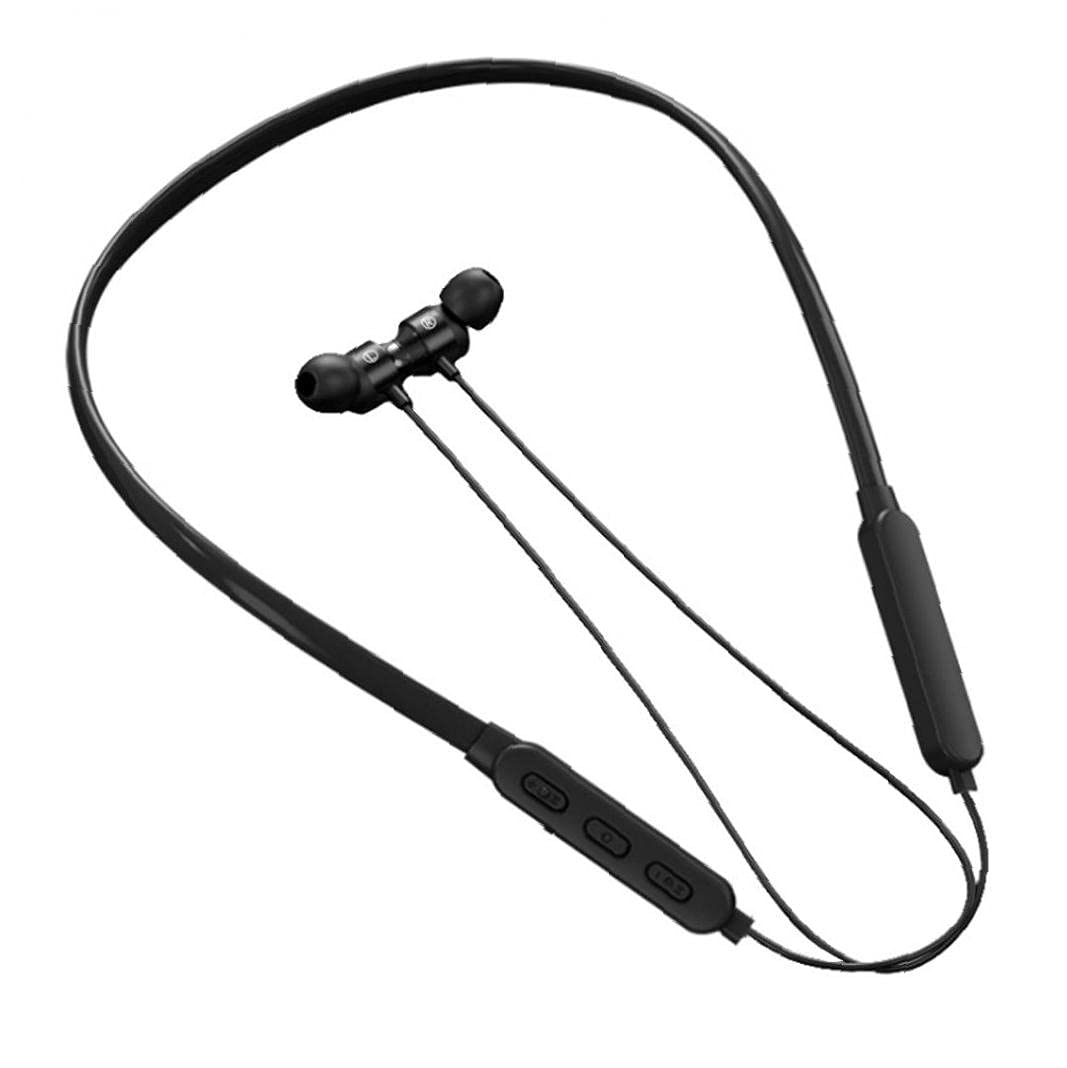 Bluetooth Headphone Neckband Earphones Wirelesss Sports Headphones with Mic Waterproof for Workout Running Black Low Latency and Sound Surround