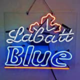 Labatt Blue Real Glass Beer Bar Pub Store Party Decor Neon Signs 19x15