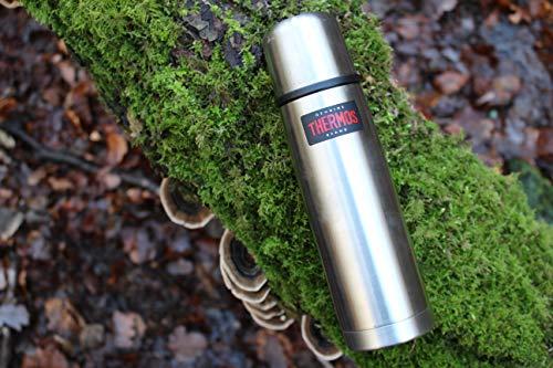 Thermos - Borraccia leggera e compatta in acciaio INOX, 1,0 l, acciaio inox, 1 - confezione