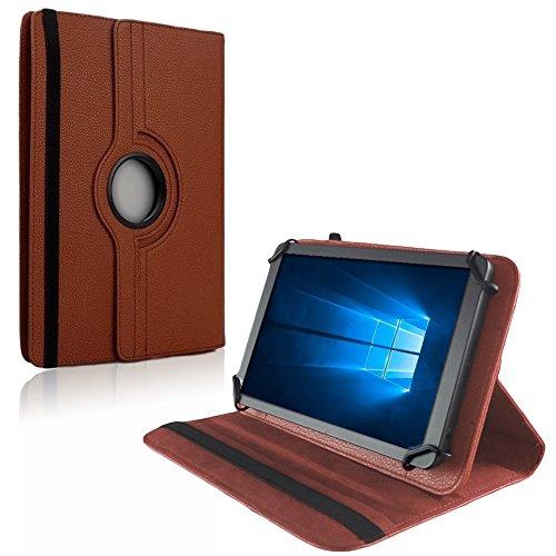 NAUC Tablet Hülle kompatibel für MPman MPQC730 Tasche Schutzhülle Case Schutz Cover Bag Etui, Farben:Braun