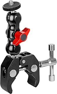 koolehaoda Multi-Function Ballhead Arm Super Clamp Mount Double Ball Adapter with Bottom Clamp for DSLR Camera/Field Monit...