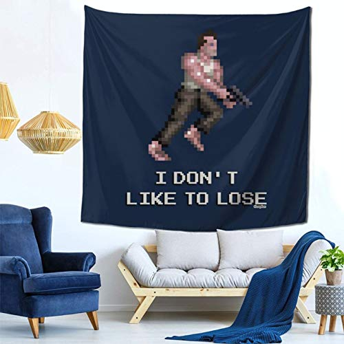 1033 Die Hard John Mcclaine Pixel I Dont Like to Lose Wall Hanging Tapestry for Living Room and Bedroom Spreads Good Vibes 59×59 Inches