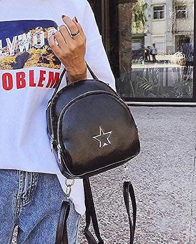OIBHFO Home Personnalité Sacs à Dos Mode féminine Star Pattern rue Shooting Sac à Dos Décontracté sac à dos