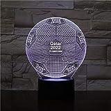 FIFA WM Fußball 3D Lichter RGB Raumdekoration Lichter Kinder-Kits Fußball FC LED Nachtlichter