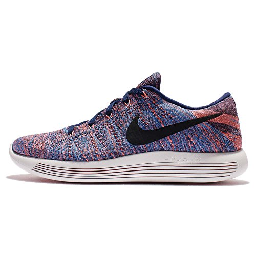 Nike Lunarepic Low Flyknit Mens Running Trainers 843764 Sneakers Shoes (US 8, Loyal Blue Black Glow 400)