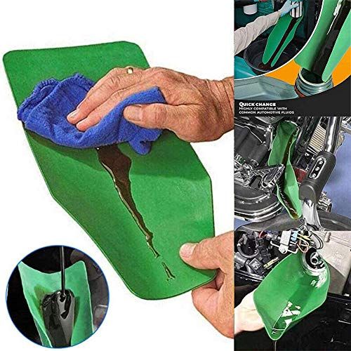 Embudo de drenaje de aceite flexible,herramienta de drenaje extendida universal plegable,herramienta de embudo drenaje aceite para cualquier placa de guía drenaje,uso de fluidos/químicos,50x20 cm