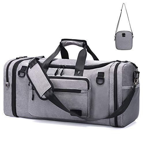 Sporttasche Damen Reisetasche mit Schuhfach und Weekender Herren Reisetaschen mit abnehmbarer Umhängetasche/Wasserdicht Handgepäck Flugzeug für Reisen - Männer & Frauen Fitnesstasche für Sport Gym 46L