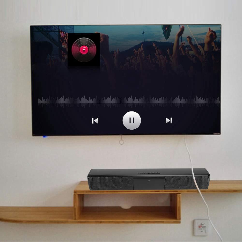 Barra de Sonido para TV, TV Barra de Sonido para el hogar Barra de Sonido Bluetooth inalámbrico Estéreo Altavoz Envolvente Teatro en casa Altavoz para TV PC Smartphone: Amazon.es: Electrónica