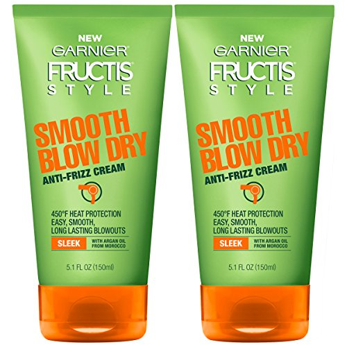 Garnier Hair Care Fructis Style Smooth Blow Dry Anti-Frizz Cream, 2 Count (Hair Products For Fine Hair In Humidity)