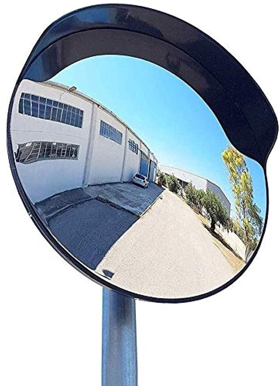 合体プレゼンテーション浴工場の交通安全ミラー、ブラック変形していない凸面ミラー屋外設置が簡単ブラインドスポットミラーサイズ:30-60CM(色:ブラック、サイズ:45CM)