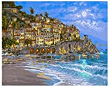 Pintura por números para adultos paisaje DIYpintura acrílica decoración pintura al óleo por números casa regalo único 40x50cm sin marco