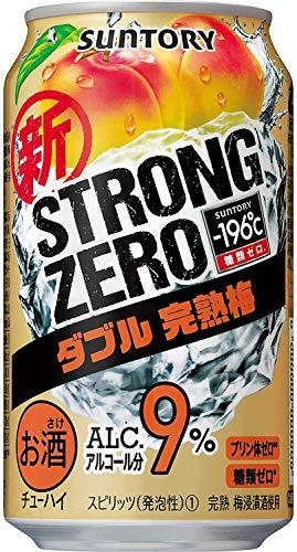 [3CS] サントリー -196℃ ストロングゼロ ダブル完熟梅 (350ml×24本)×3箱