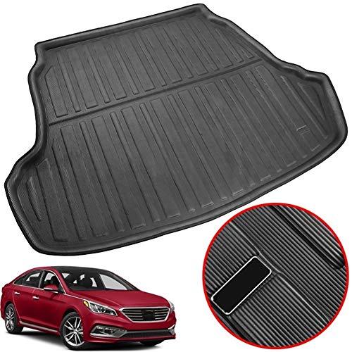 XIANGSHAN Accessories Fit For Hyundai Sonata Sedan 2015 2016-2018 Rear Trunk Liner Boot Cargo Mat Tray Floor Carpet Mud Kick Protector