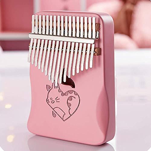 17-Tasten C-Ton rosa Daumen Klavier Mahagoni professionelles Fingerinstrument Kinder Erwachsene Freundin, Tasche Stimmhammer Lernhandbuch, E. LJCi