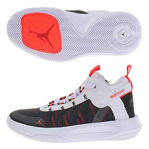 Nike Jordan Jumpman 2020 (GS), Zapatillas de Baloncesto para Niños, Multicolor (White/Metallic Silver/Black/Red Orbit 100), 36.5 EU
