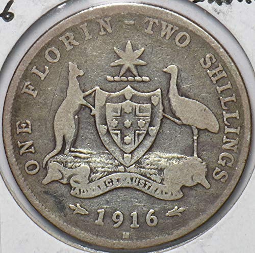 1916 AU Australia 1916 M Shilling Kangaroo animal Emu 902681...