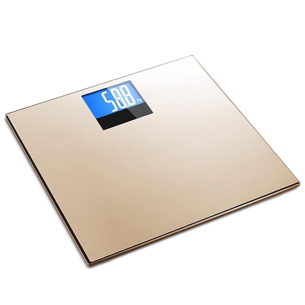 乳剤嫌がらせ不格好SYF 体重計 電子体重計世帯の人間の体重体重体重大人の健康精密な知的 A+ (色 : ゴールド)