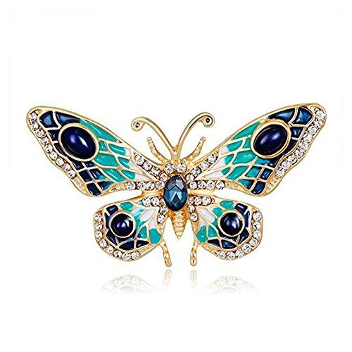 SODIAL Frauen Vintage Niedliche Schmetterling Brosche Tier Pins Corsage Dekoration Schmuck