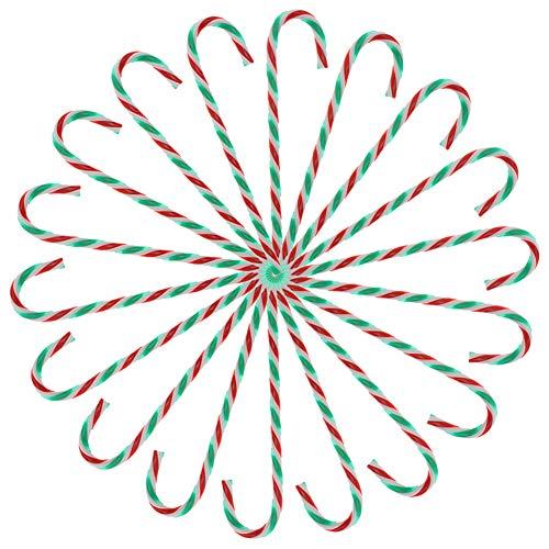 Adornos para árboles de Navidad Bastón de caramelo,24 piezas Bastones de caramelo Adornos para árboles vacaciones de Navidad Decoración de hogar Año nuevo Regalo de fiesta,15 cm de longitud Style-2