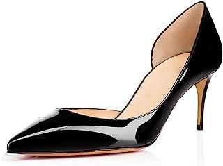 ed56e4bbbaf3d9 EDEFS Escarpins Femme Bout Pointu Talon Moyen Aiguille 6.5 CM Sexy Mode  Classique Chaussures