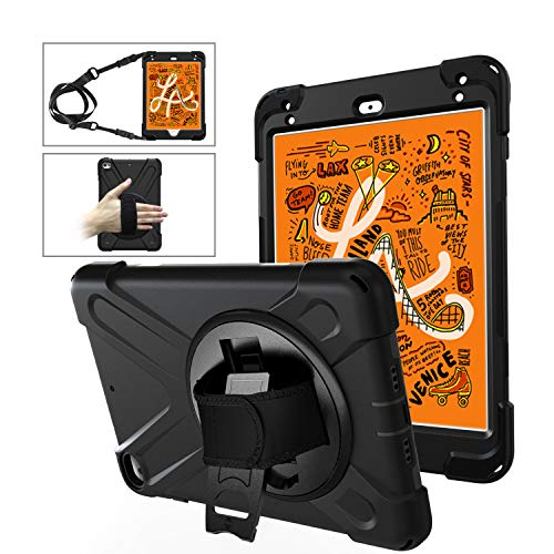 BlinkCat iPad Case for iPad 2, iPad 3, iPad 4, Full Body Rugged Drop Protection Hybrid Shockproof Protective with Kickstand / Hand Strap+Shoulder Strap - Black