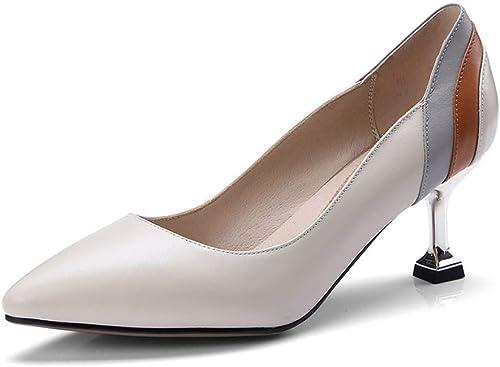 MAKAFJ Chaussures à Talons Hauts En Cuir Verni à Lacets De Grande Taille à Talons Hauts