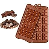 Molde de chocolate de 2 tipos Set de moldes de chocolate molde para chocolate pascua Molde de silicona de 12 cavidades Formas de trufa de chocolate para Dulces, Chocolate, Caramelos,Pasteles