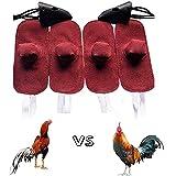 Frenaki Suministros para la Lucha de Pollos, gallos de Gallo, Guante de Pollo, Manga para el pie, protección para la Lucha de gallinas