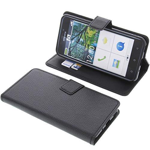 foto-kontor Tasche für Emporia Smart 3 Book Style schwarz Schutz Hülle Buch