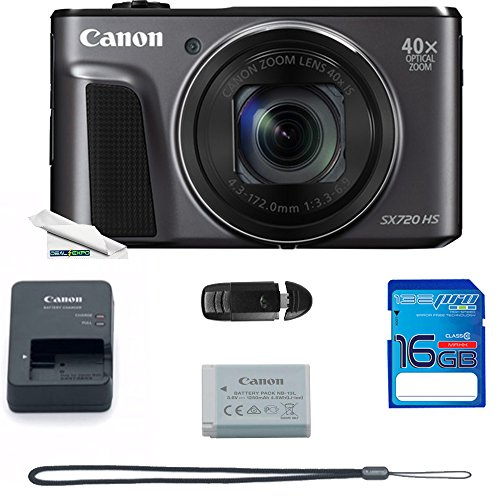 Deal-Expo Canon PowerShot SX720 HS 20.3MP Digital Camera Essential Accessories Bundle